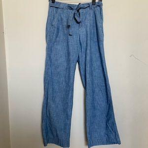 Blue Gap Wide Leg Pants with matching belt!